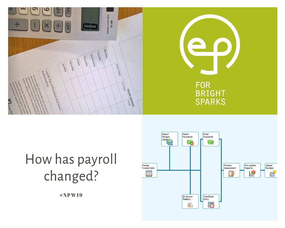 From endless sheets of paper and calculations, now payroll is all digitised and cloud based